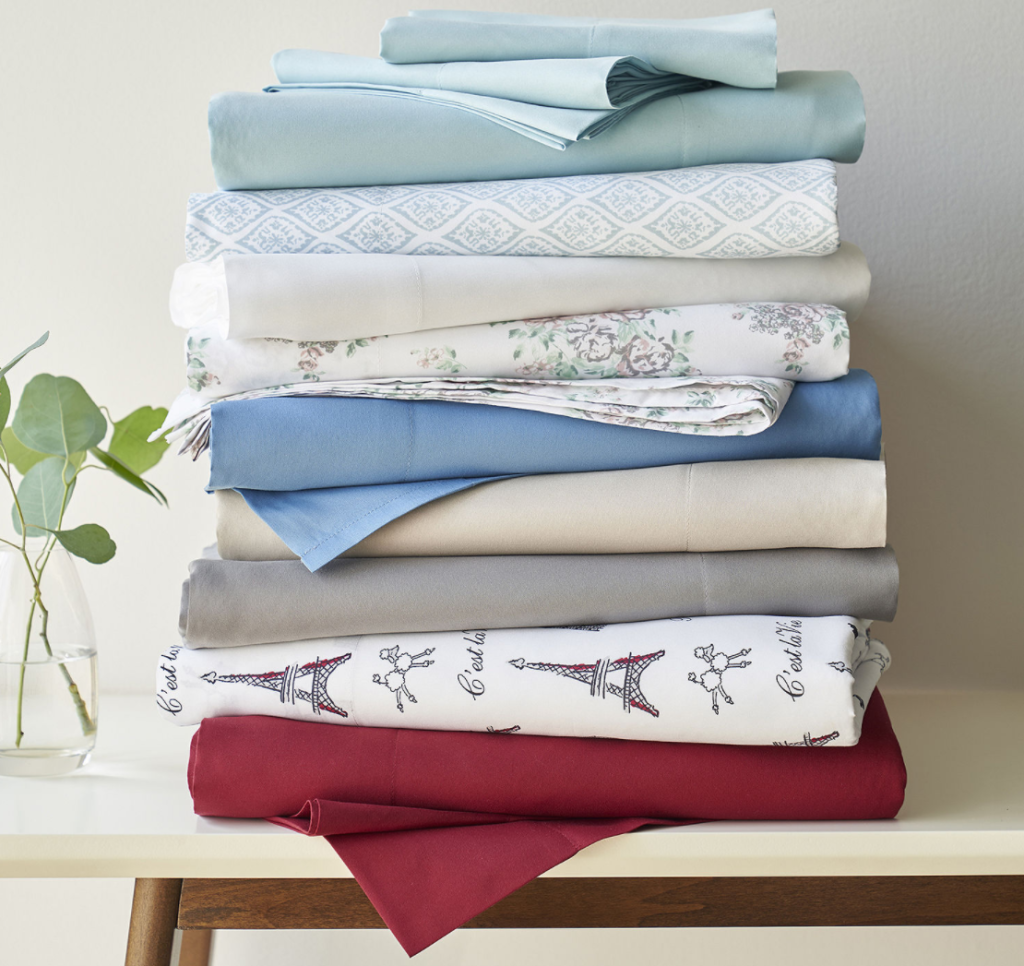 stack of folded sheets