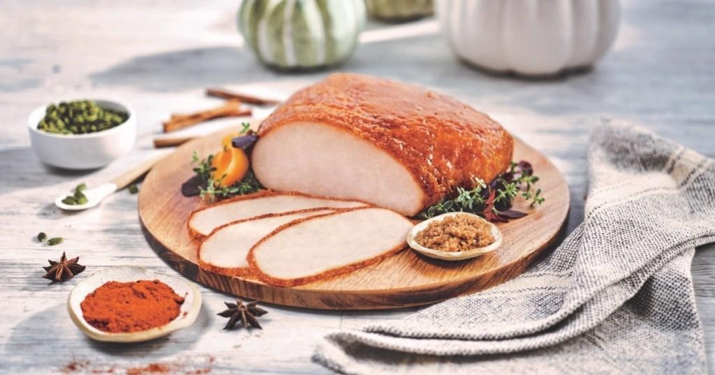 turkey breast glazed with pumpkin spice