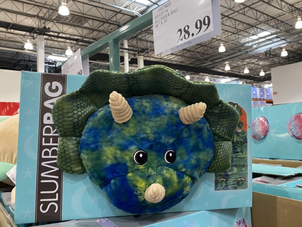 dinosaur sleeping bag in store