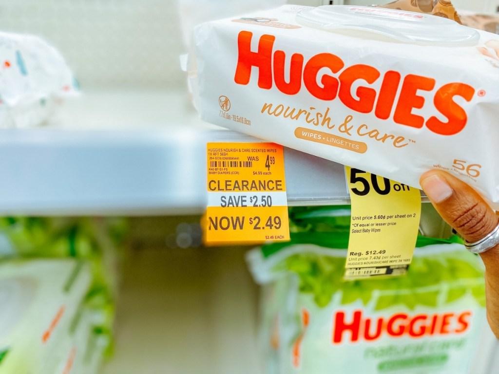 Huggies Nourish & Care Baby Wipes 56-Count