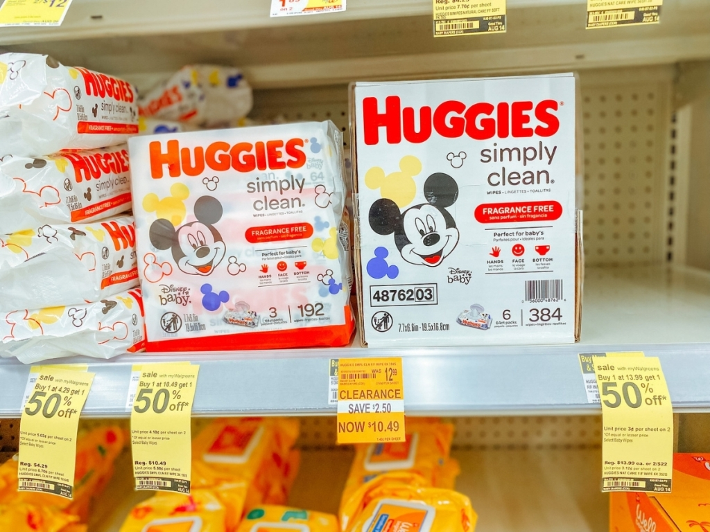 Huggies Simply Clean Baby Wipes 384-Count