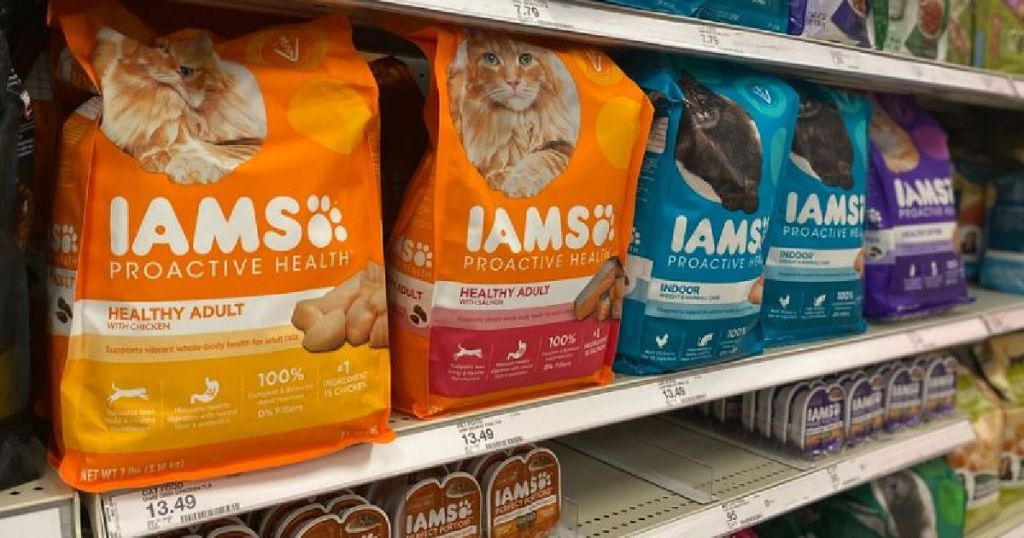 cat food on shelf
