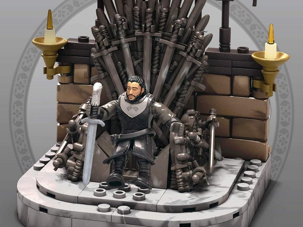 game of thrones iron throne construction set