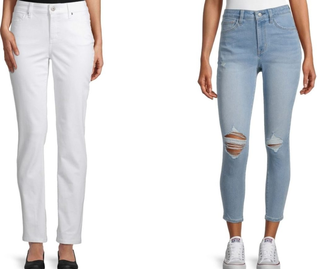 Two pairs of women's Jeans from JCPenney