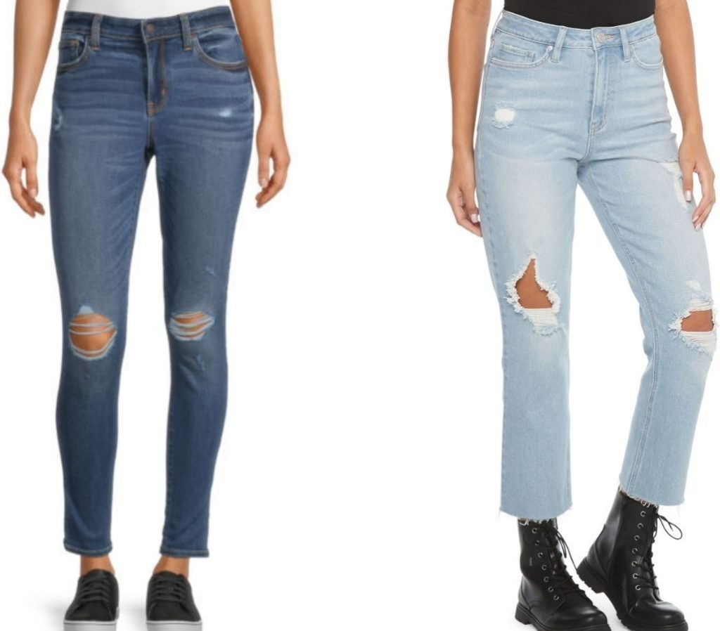 two pairs of junior jeans