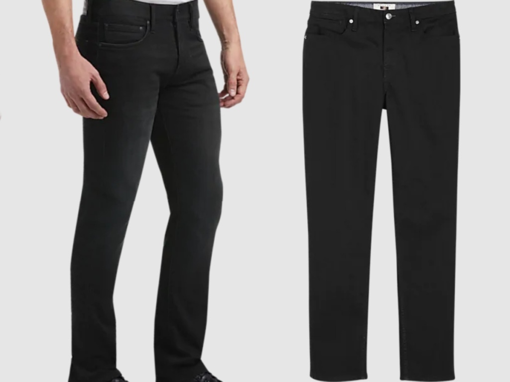 2 pairs of men's black jeans