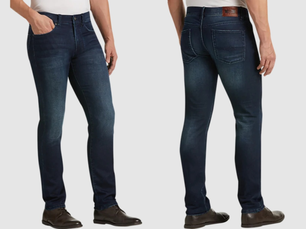 front and back of men's jeans