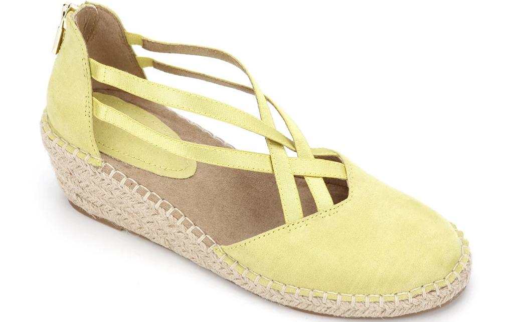 tan and yellow sandal