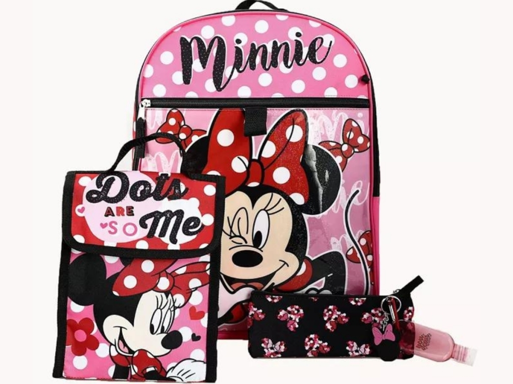 Kids 6-Piece Character Backpack Sets