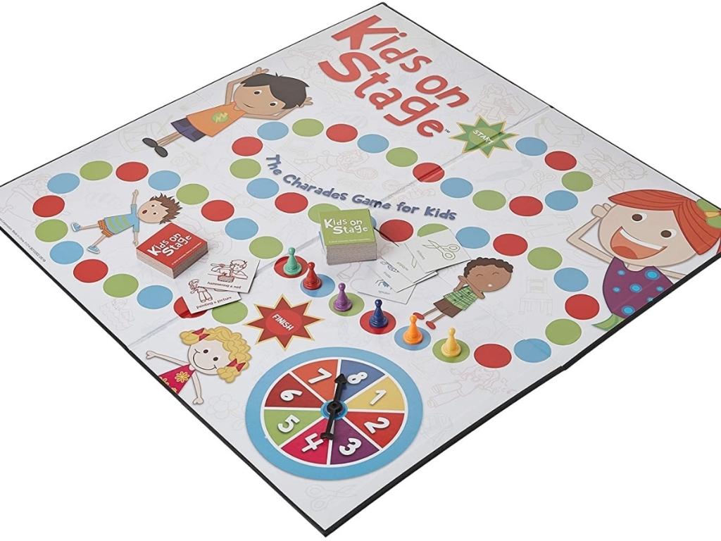 kids on stage charades game game board