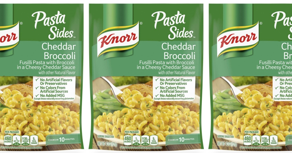 3 packages of knorr pasta sides