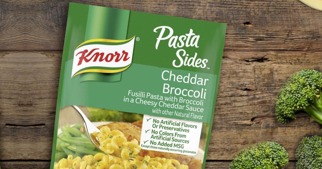 knorr cheddar broccoli pasta sides