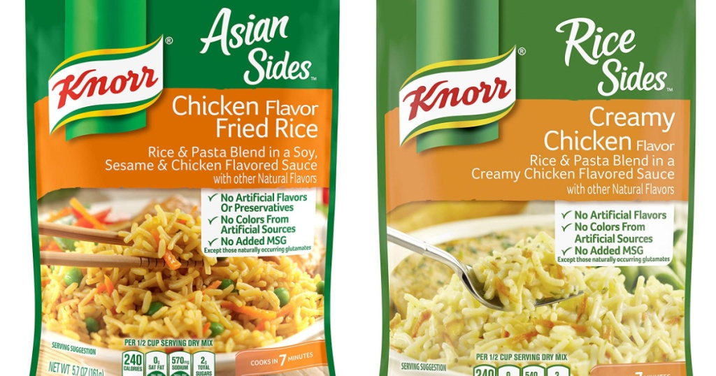 Knorr rice side packets
