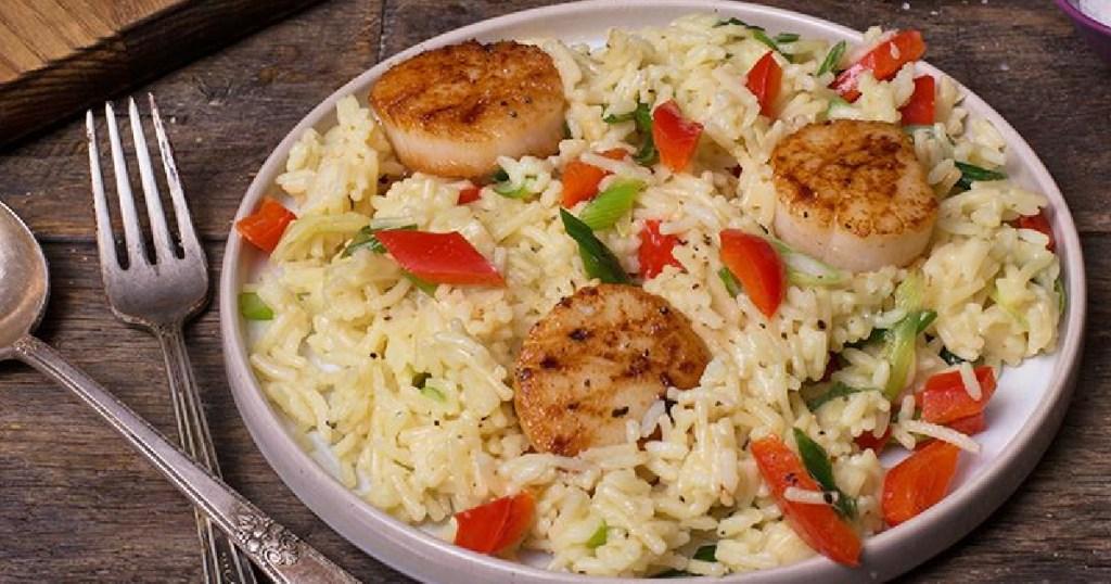 shrimp, rice and veggie dish