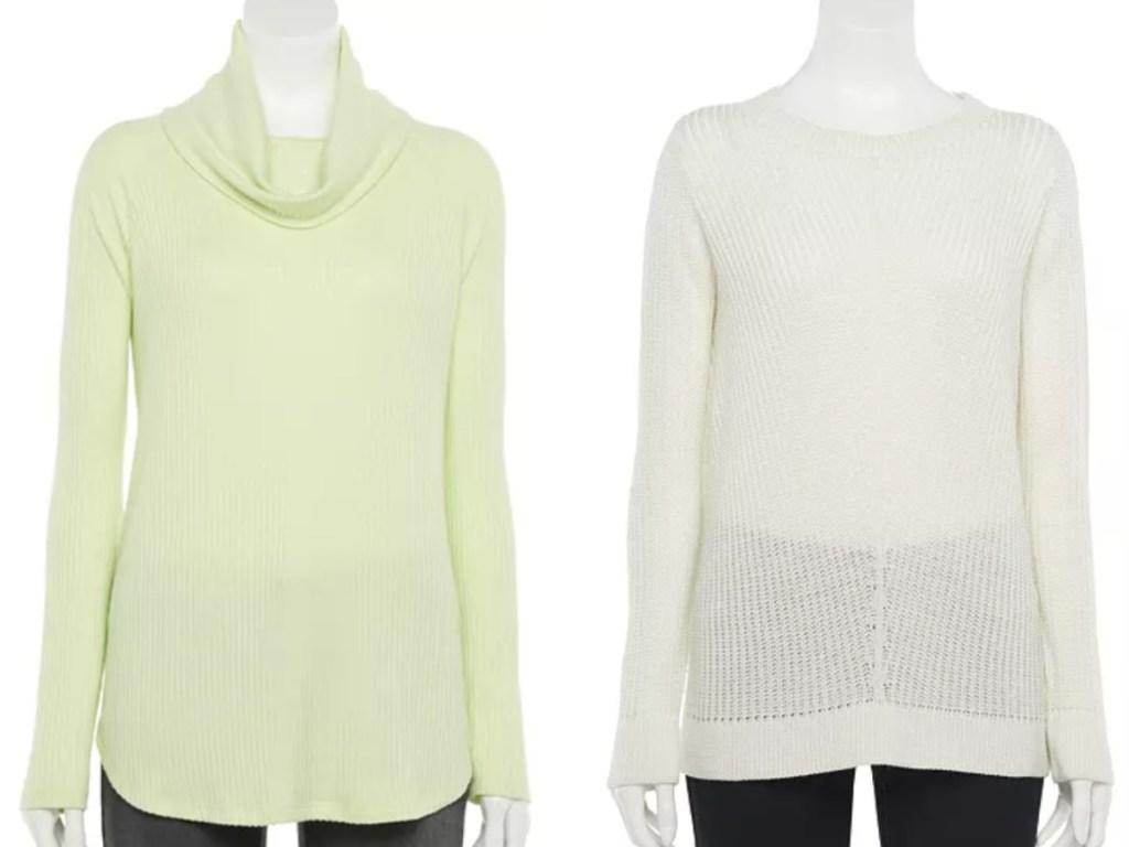 2 women's sweaters