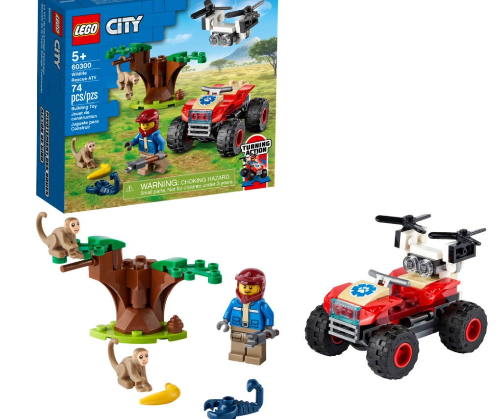 LEGO City Wildlife Rescue ATV Building Kit 74-Pieces