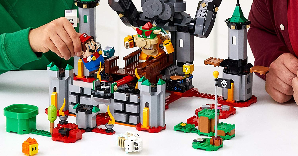 family building Super Mario themed LEGO set