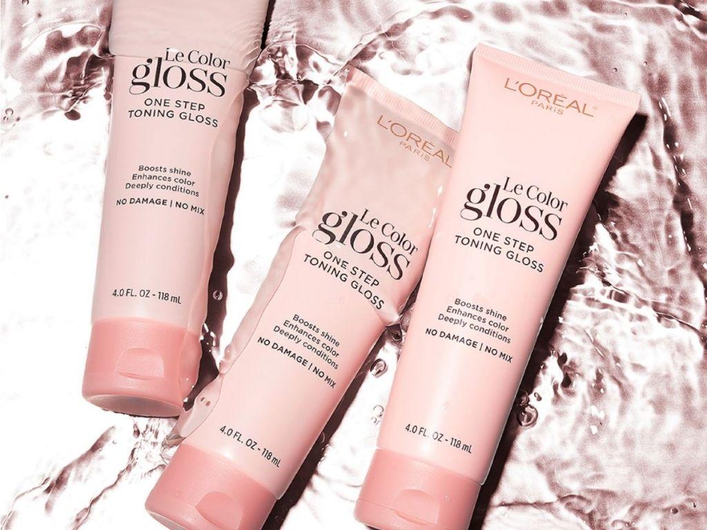 3 loreal le color gloss