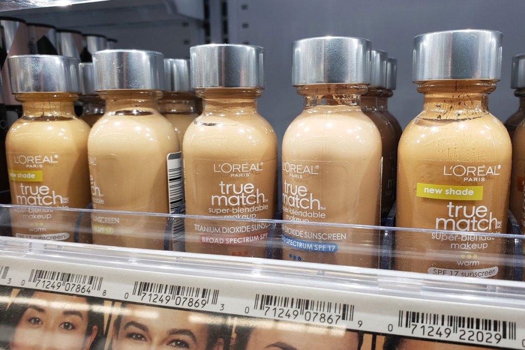 loreal foundations on store shelf