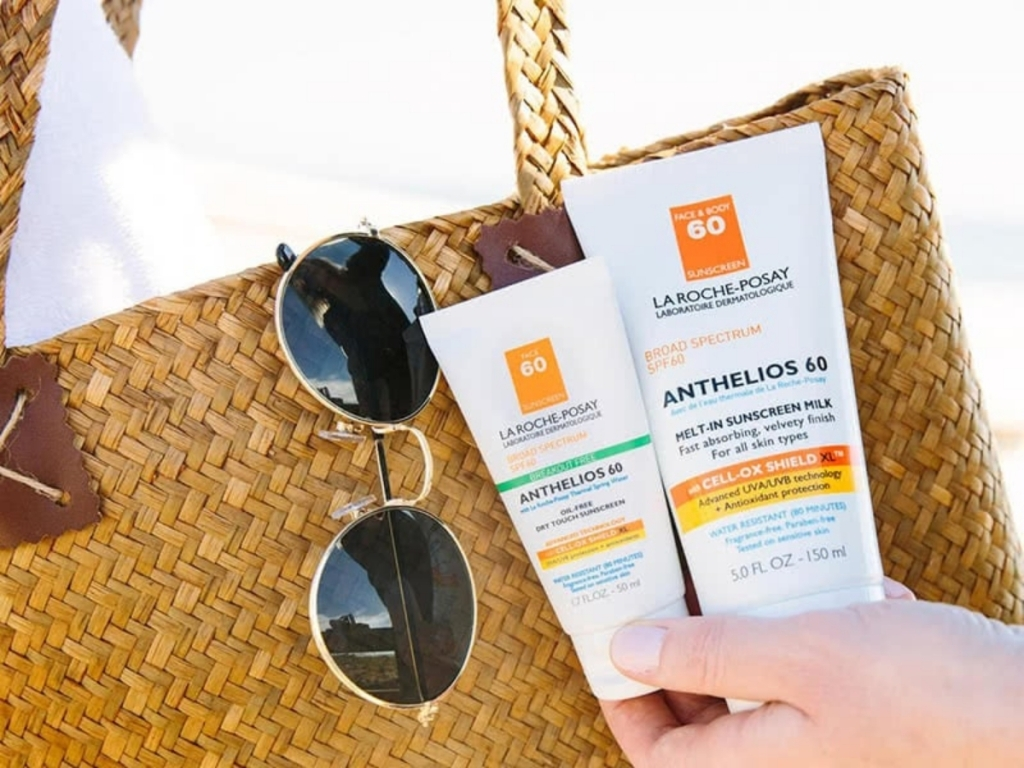 2 bottles of anthelios sunscreen from la roche-posay