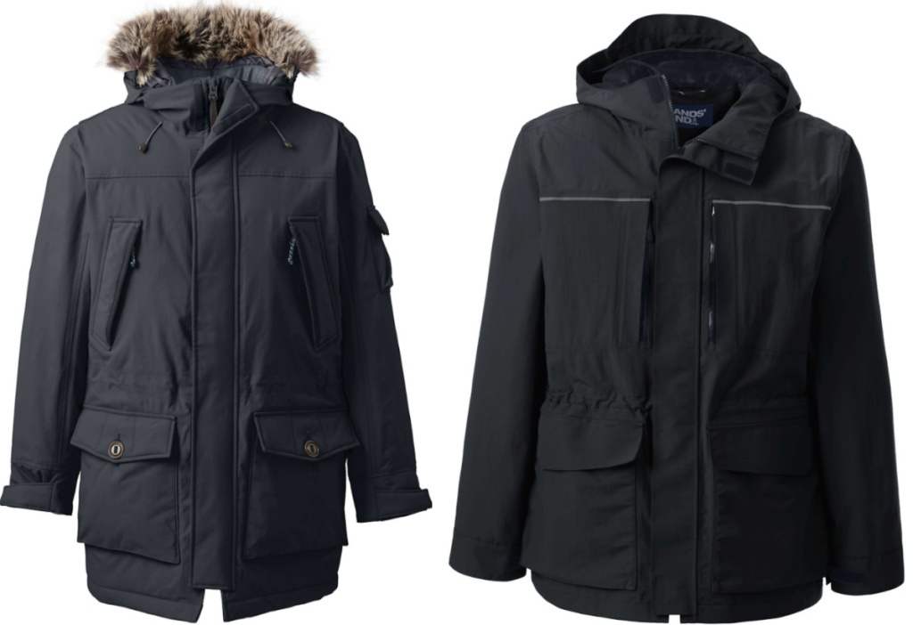 2 men's lands' end outwear jackets