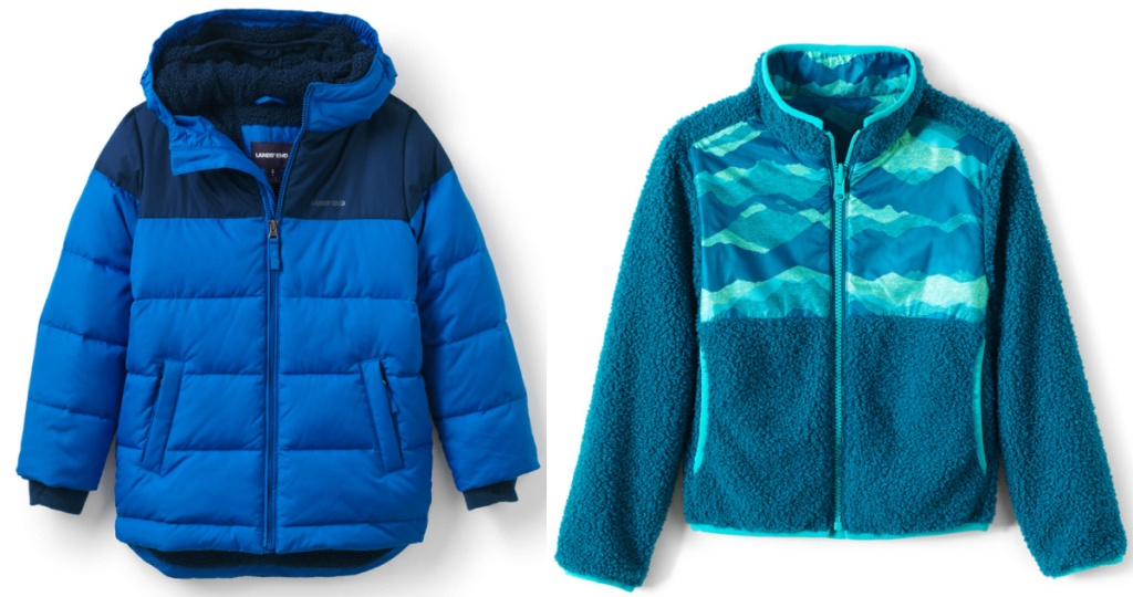 2 kids land's end jackets
