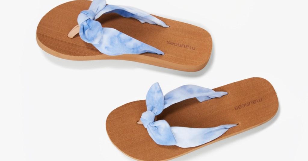 Leah Blue Tie Dye Flip Flop
