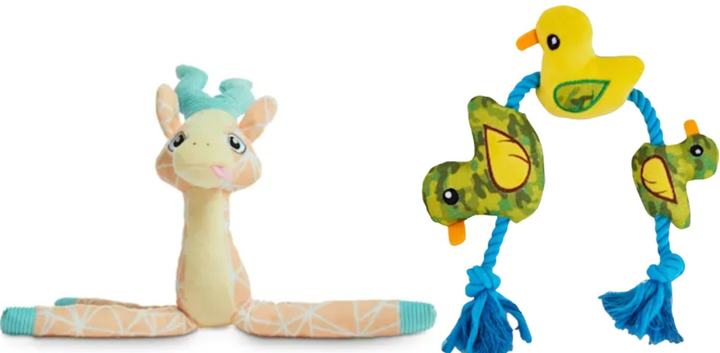 Leaps & Bounds Dog Toys antelope and ducks