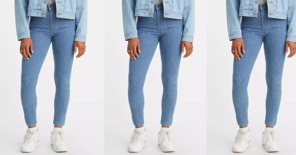 three women wearing Levi's jeans
