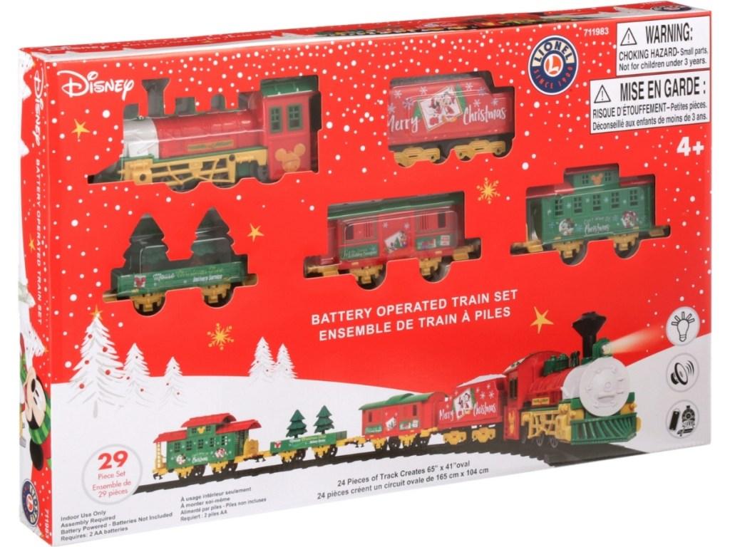 box of lionel mini model train set disney