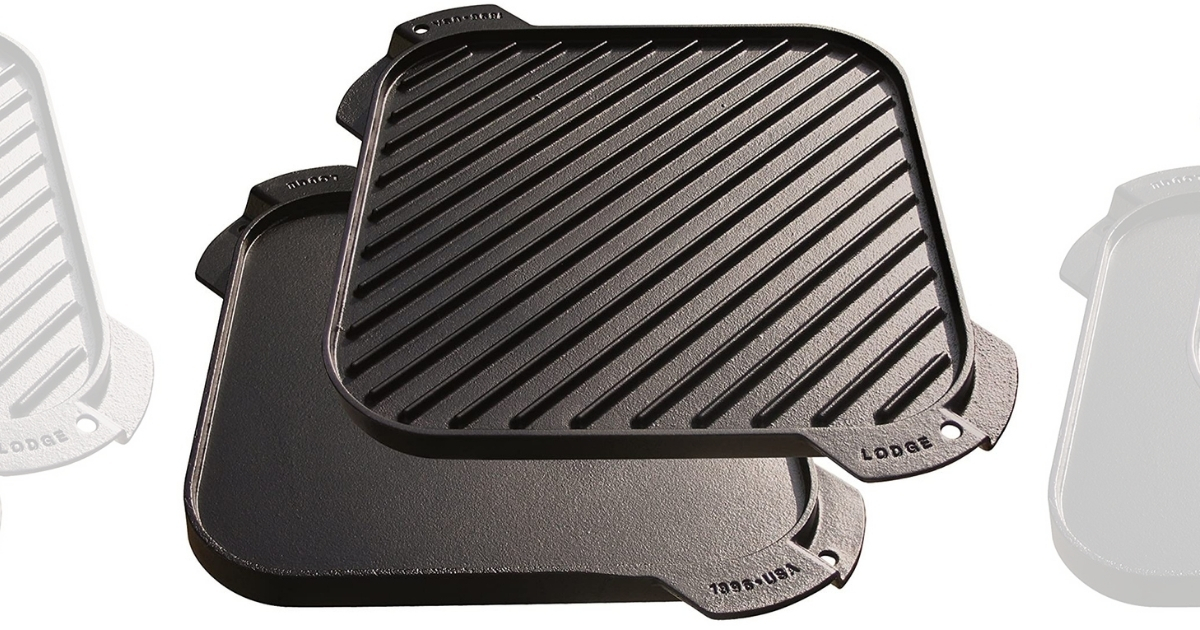 Lodge 10.5-Inch Cast Iron Single-Burner Reversible Grill/Griddle