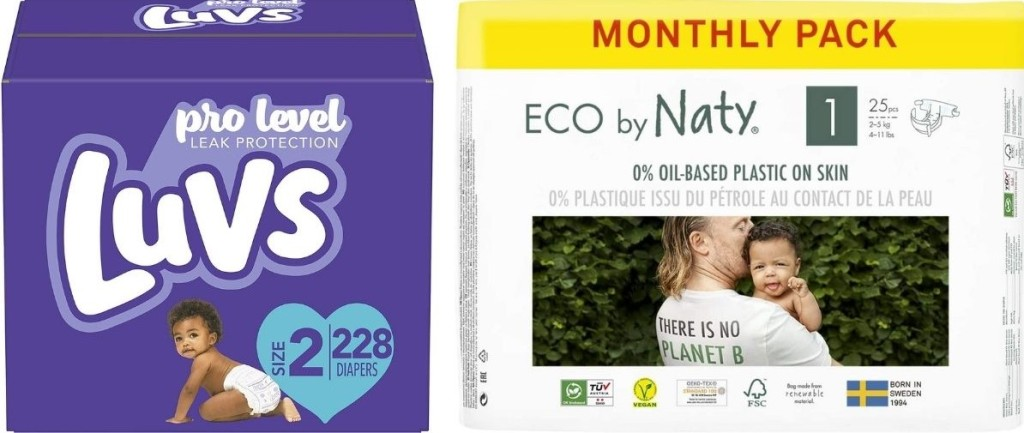 Luvs and Eco by Naty Diapers