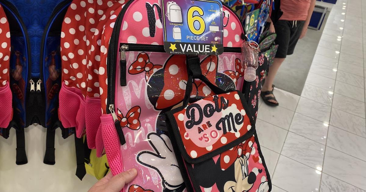 Bioworld Kids Minnie Mouse 6 Piece Backpack Set