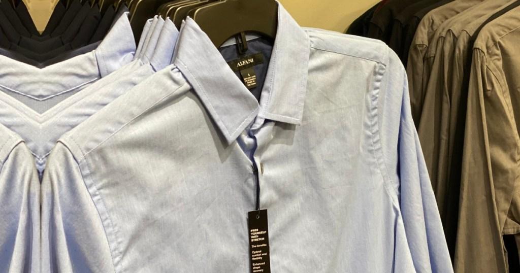 alfani men's dress shirt