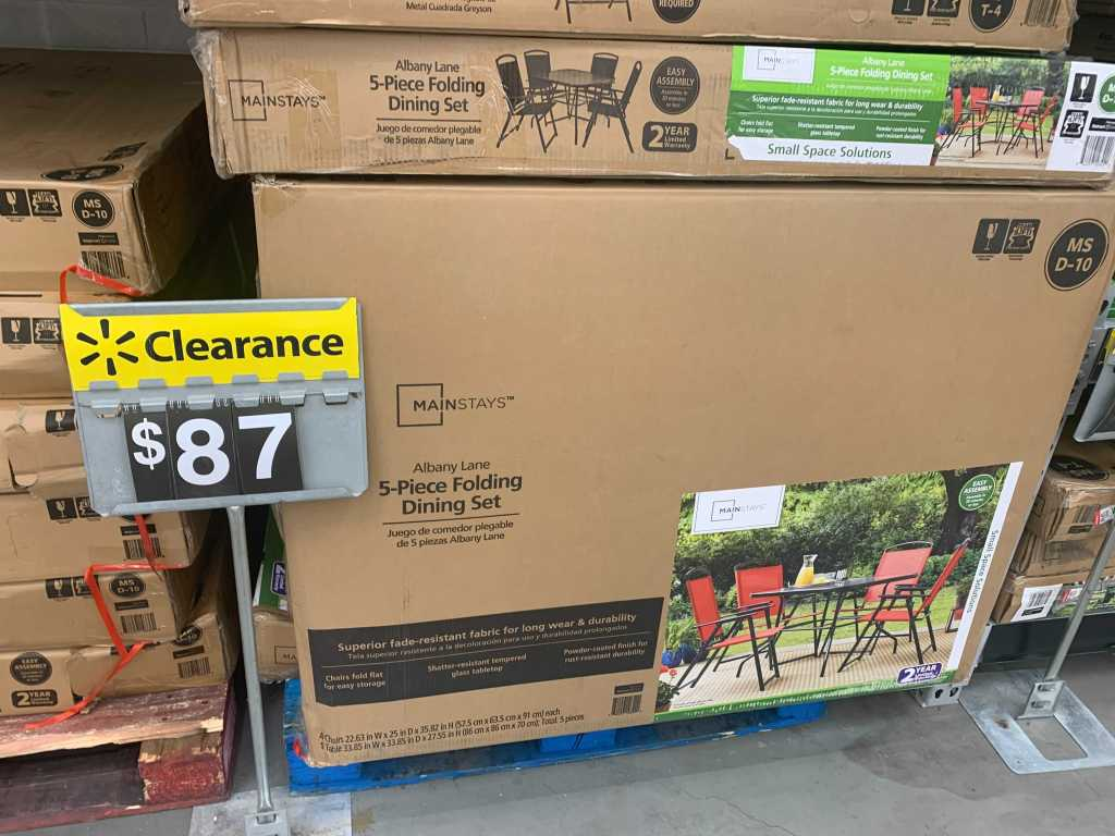 Mainstays Patio Table on clearance at Walmart
