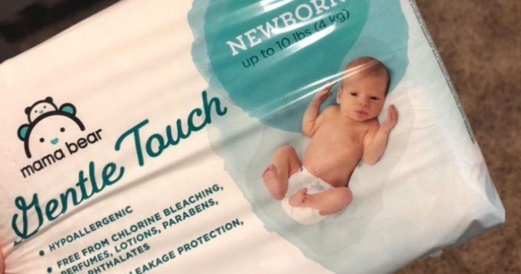 package of Mama Bear diapers