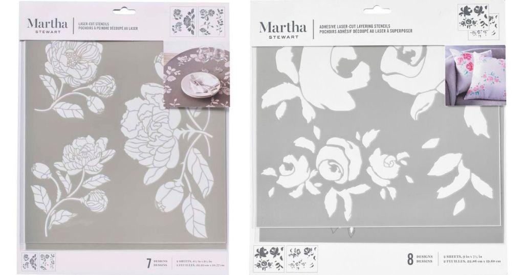 two Martha Stewart Stencils