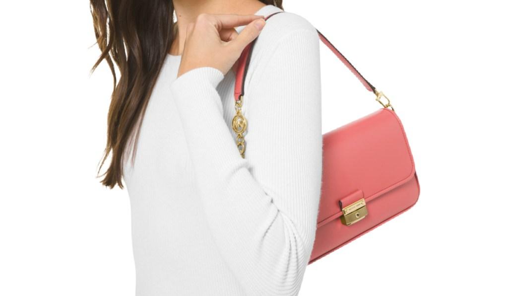 Michael Kors Bradshaw Small Leather Shoulder Bag