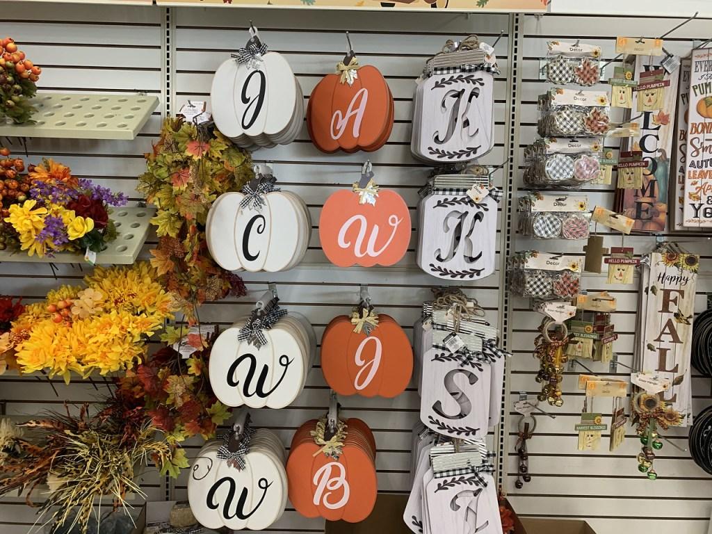 Monogram Pumpkins and Jars