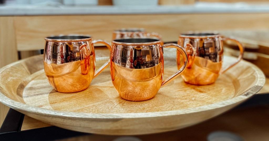 moscow mule mugs on display