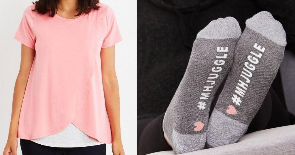 Motherhood Maternity Nursing Top and Socks