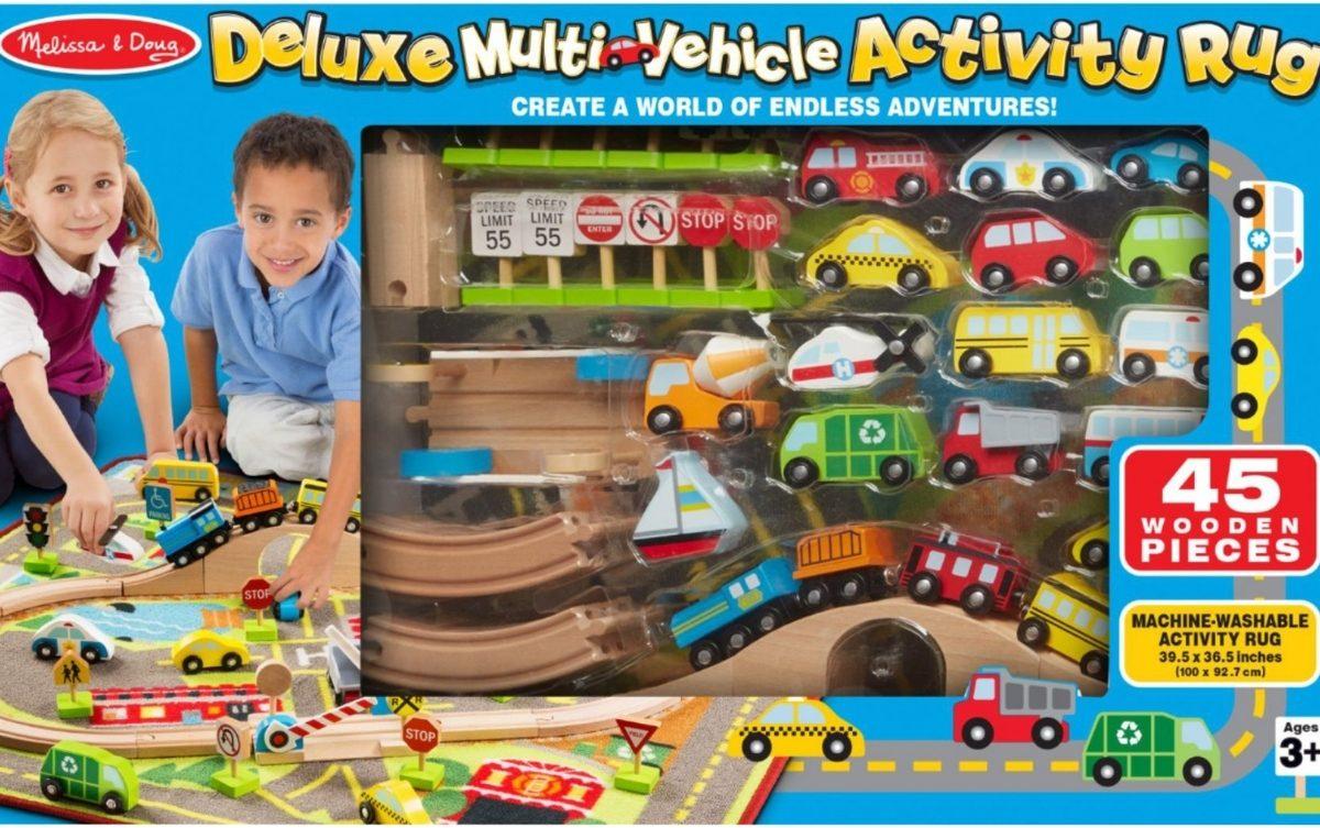 melissa and doug multi vehicle activity rug