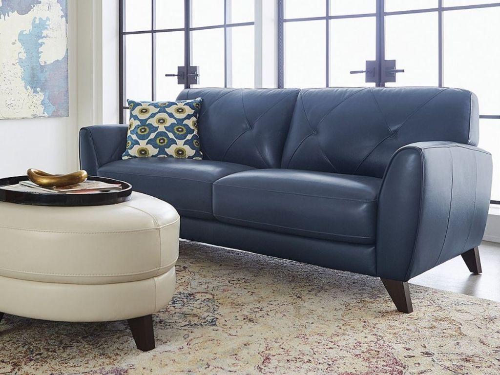 Myia 100% Leather Sofa