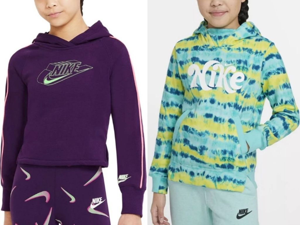 two Nike Girls hoodies