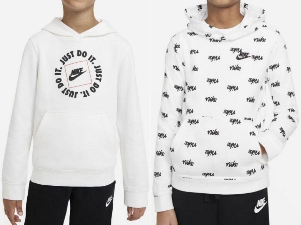 two Nike boys hoodies