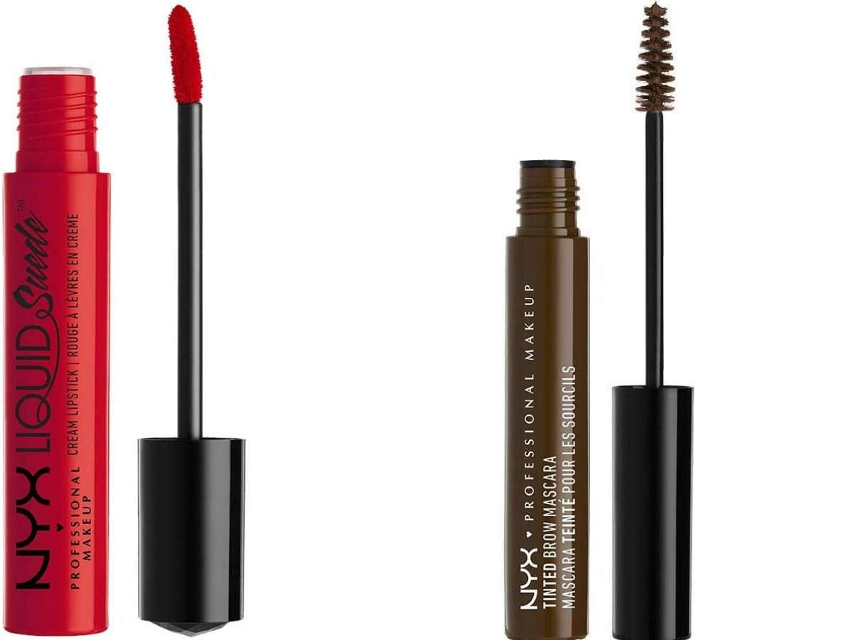 stock images of Nyx lip color and mascara