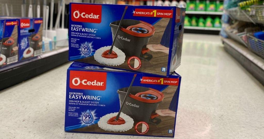 two O-Cedar Easywring Mop boxes