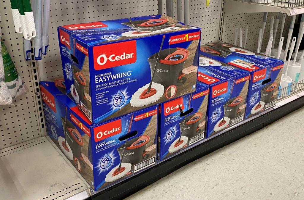 O-Cedar Mops on a shelf at Target