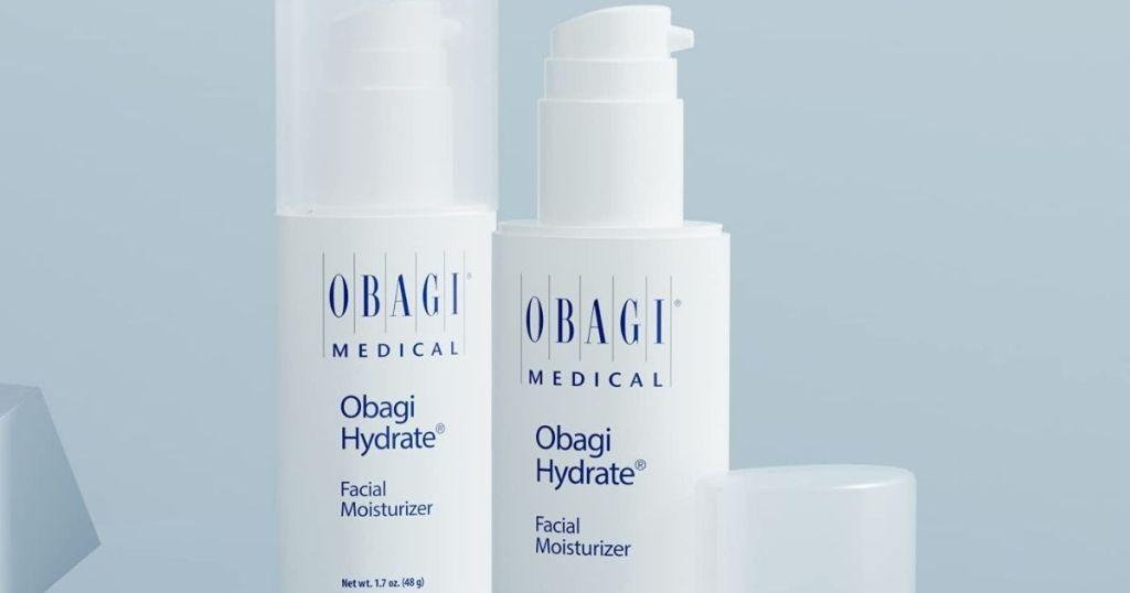 two bottles of Obagi Hydrate Moisturizer