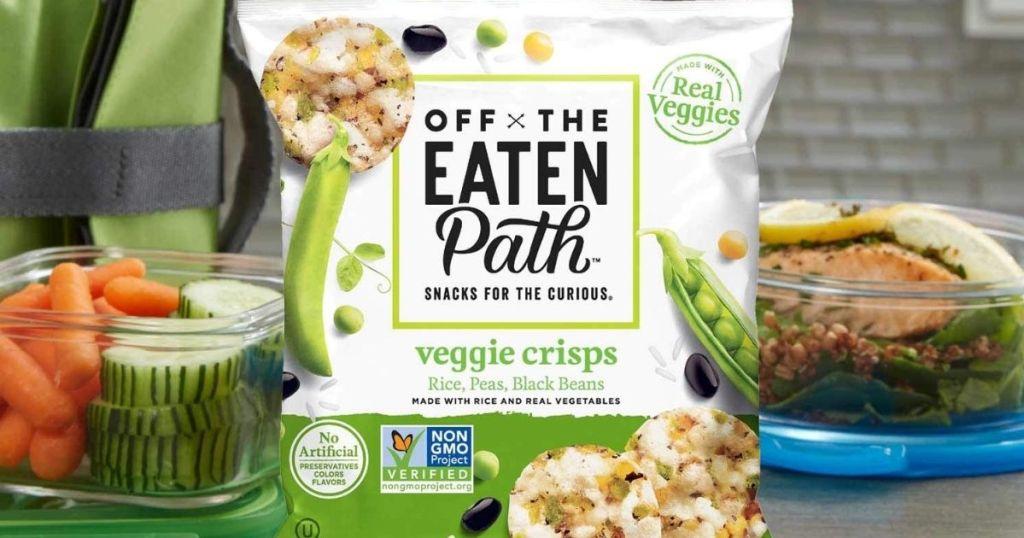 Off The Eaten Path Veggie Crisps bag